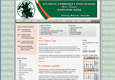ACHS Music website example